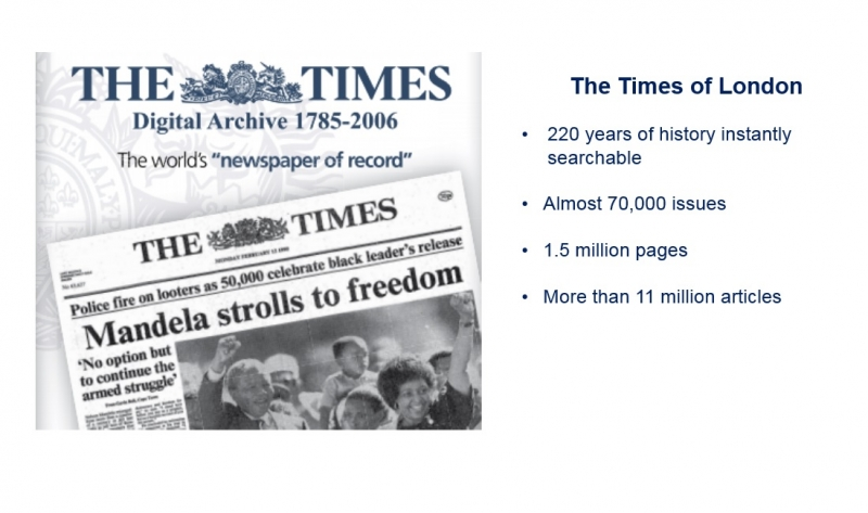 The Times Digital Archive