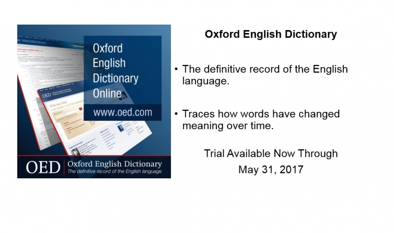 Introducing Oxford English Dictionary Online